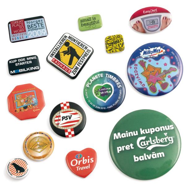 Znaczki na agrafce buttons badges